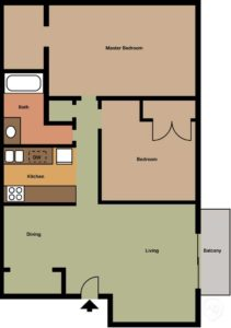 2 Bedroom Master Floorplan